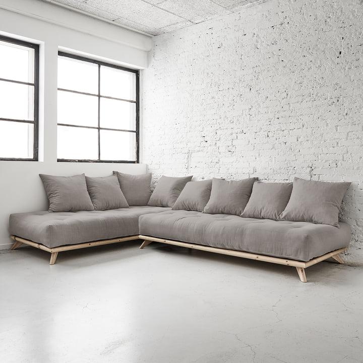 Senza Sofa von Karup in Kiefer Natur / Granitgrau