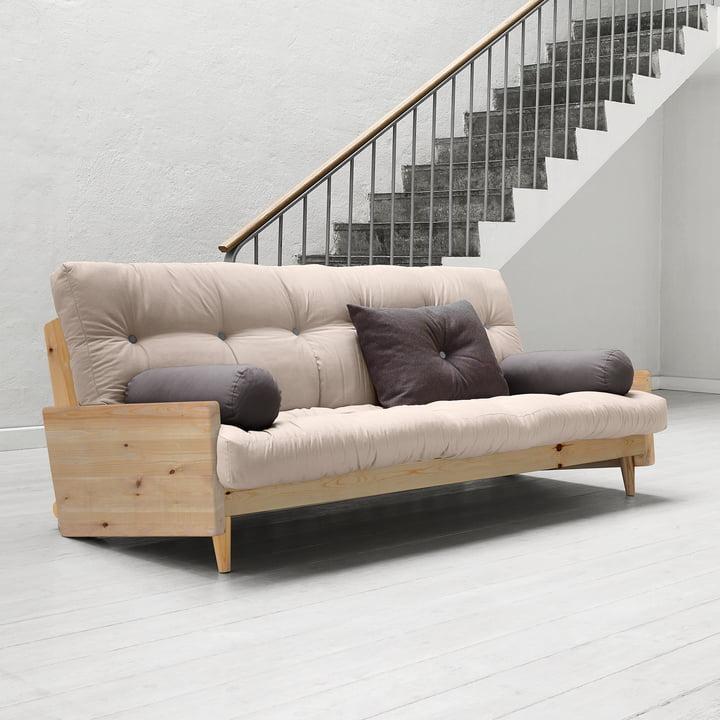 Indie Sofa von Karup in Kiefer Natur / Beige