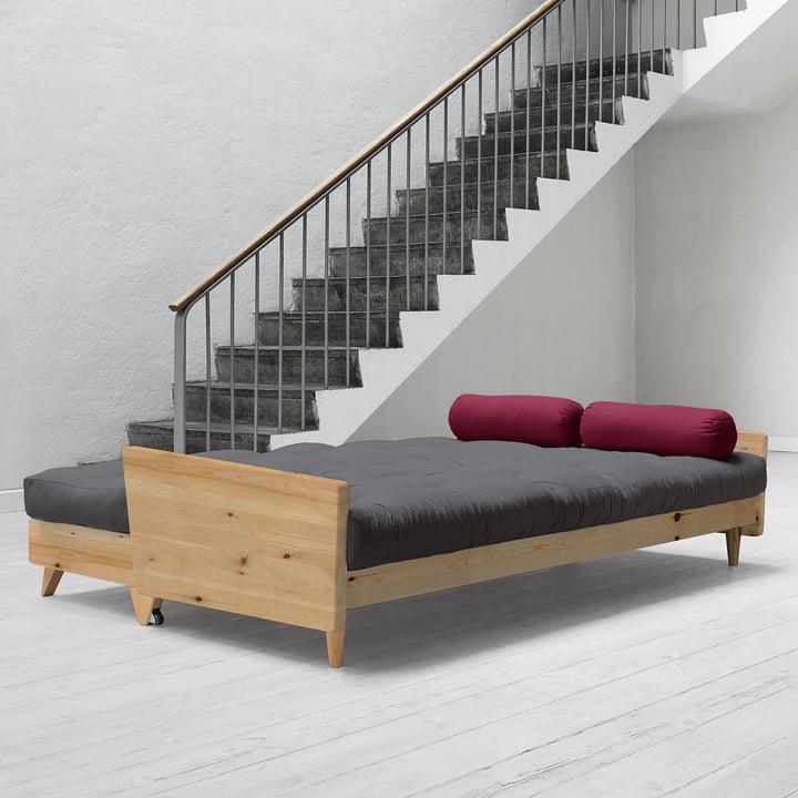 Indie Sofa von Karup in Kiefer Natur / Grau