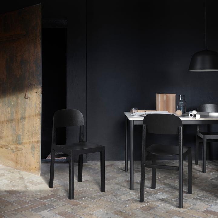 Workshop Chair von Muuto in Schwarz