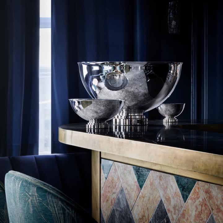 Manhattan Champagnerkühler und Schalen von Georg Jensen