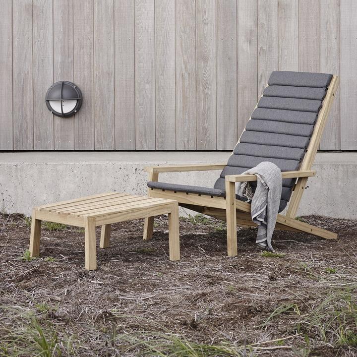 Skagerak - Between Lines Deck Chair / Stool / Auflage charcoal