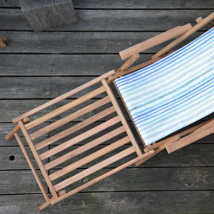 Maxx Fußteil von Jan Kurtz in Teakholz mit Deckchair