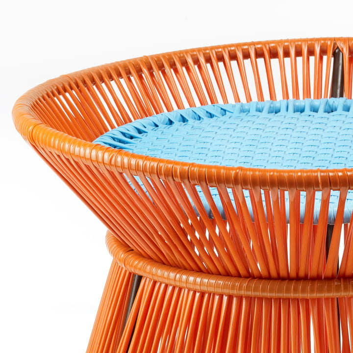 ames - caribe Basket Table, orange / türkis / braun