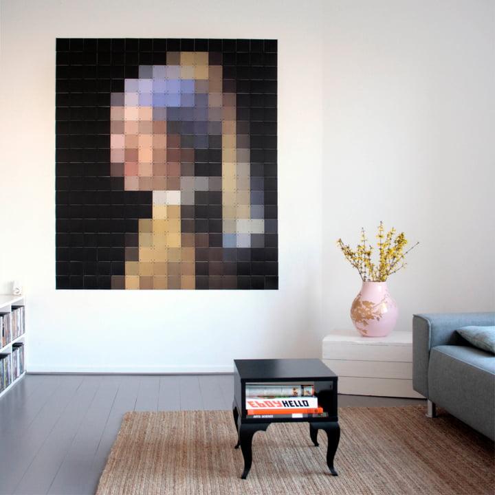 Mädchen mit dem Perlenohrring (Pixel) von IXXI