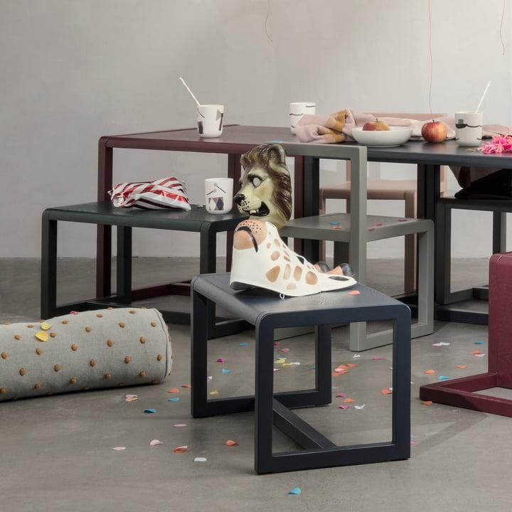 Little Architect Bank, Stuhl und Tisch von ferm Living