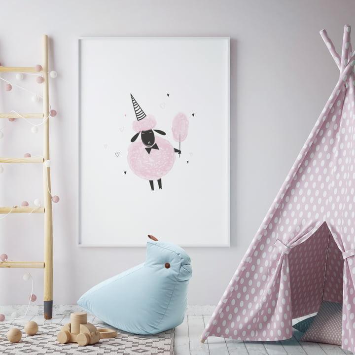 Vogel-Spieltier als Freund im Kinderzimmer