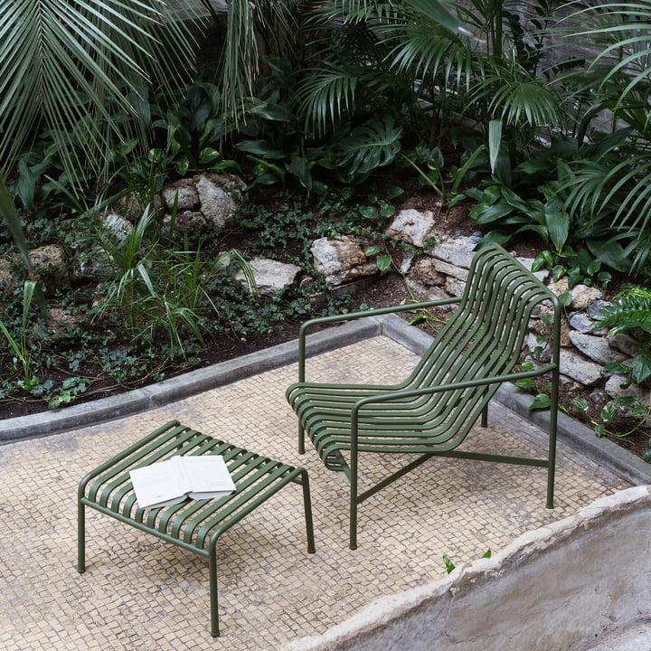 Palissade Lounge Chair High mit Ottoman von Hay