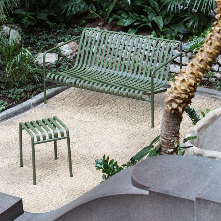 Palissade Lounge Sofa mit Hocker von Hay