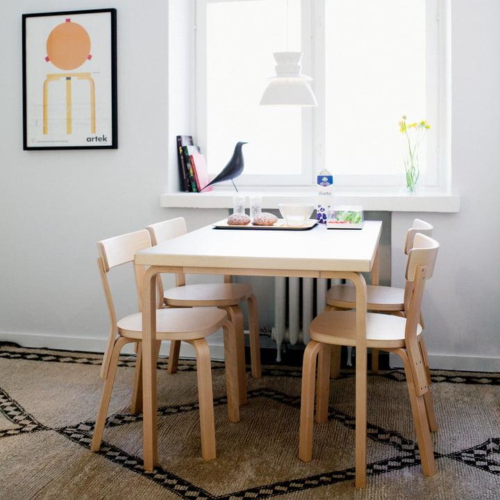 tisch 81b von artek connox shop. Black Bedroom Furniture Sets. Home Design Ideas