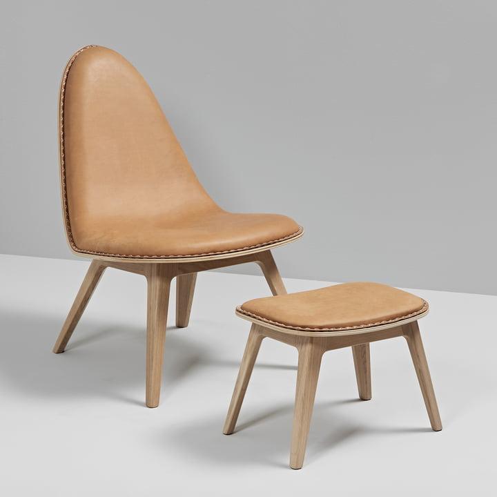 Nordic Lounge Chair mit Fußhocker von Sack it