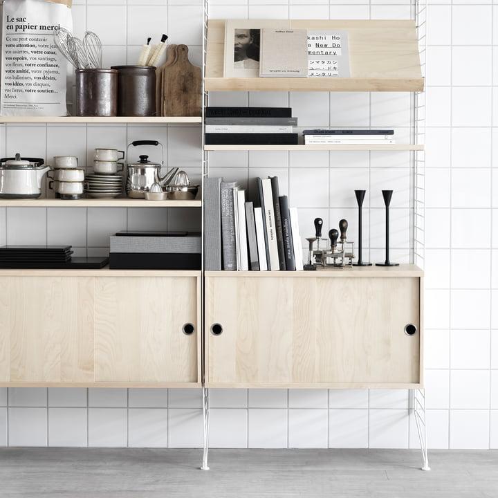 holz ablage f r string regal online kaufen. Black Bedroom Furniture Sets. Home Design Ideas