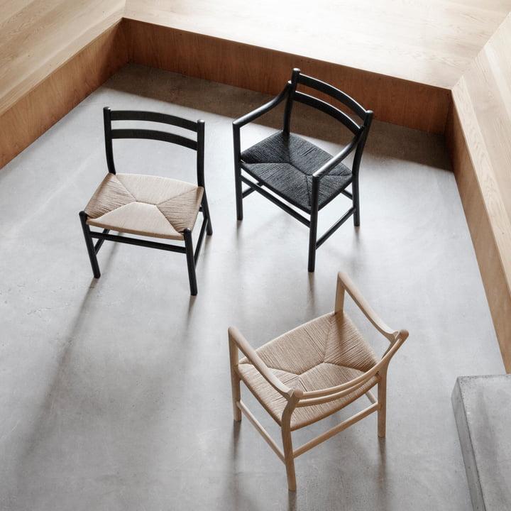 Der Carl Hansen - CH47 Stuhl in Eiche geseift mit Natur Geflecht