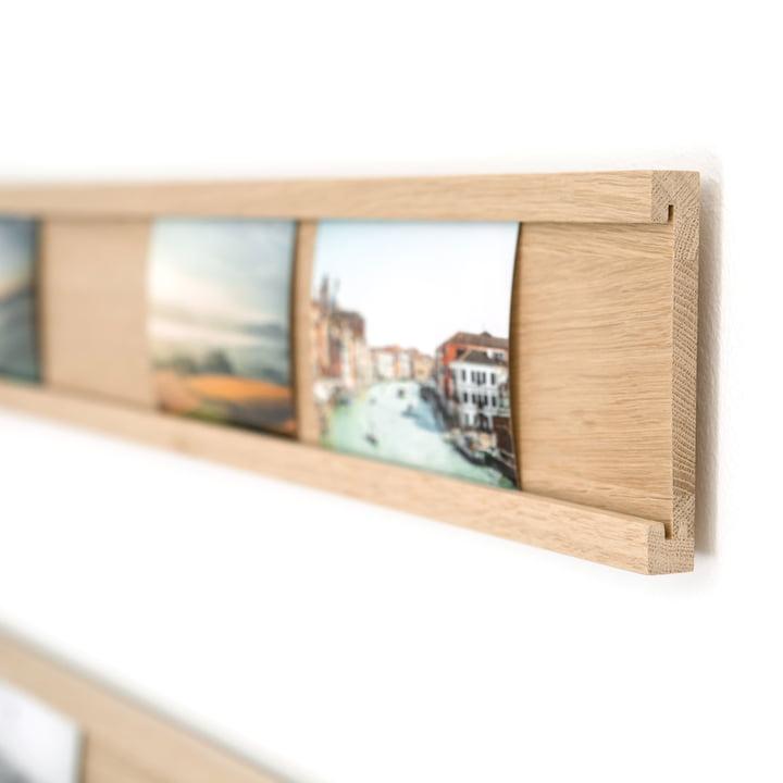 Holz-Leiste zum Präsentieren von Fotos