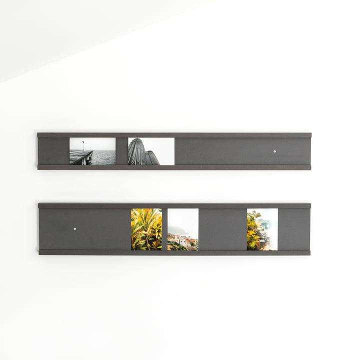 Galerieleisten für Fotografien in schwarz