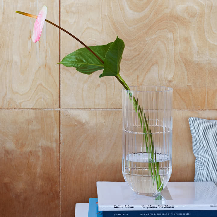 Die Hay - Colour Vase Glasvase XL in Tranparent