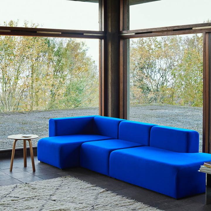 Das Hay - Mags Soft Sofa 3-Sitzer 3 Tonus und der Bella Beistelltisch