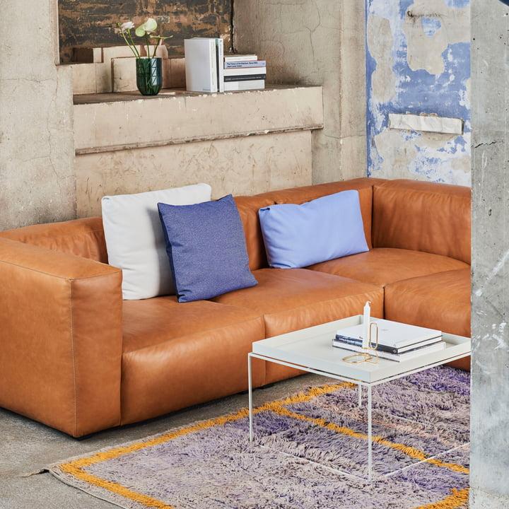 Das Hay - Mags Soft Sofa in Leder Sil0250 Cognac