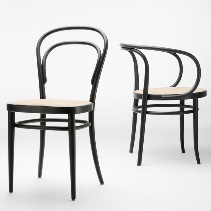 Kaffeehausstühle 209 und 214 von Thonet