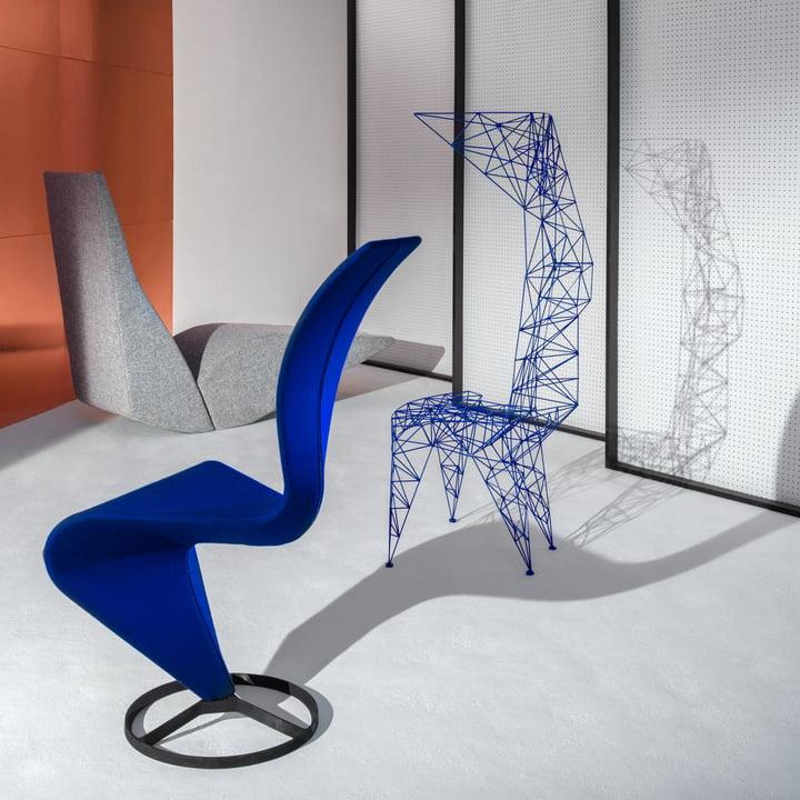 Pylon Stuhl, Bird Chaiselongue und S-Chair von Tom Dixon