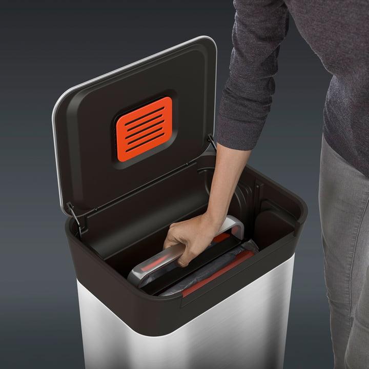 Mülleimer mit Kompressor - Titan