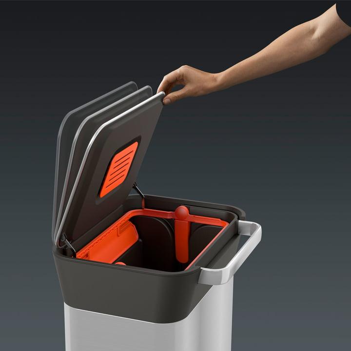 Mülleimer mit Kohlefilter gegen Gerüche