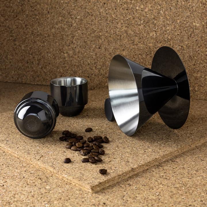 Brew V60 Espresso Geschenkset von Tom Dixon mit Espressobohnen