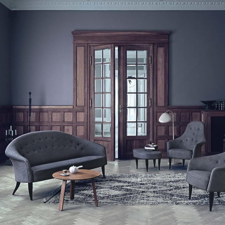 Paradiset Sofa von Gubi im Wonhzimmer