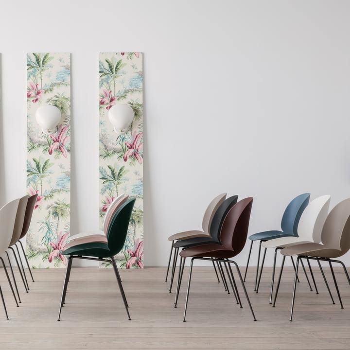 Beetle Dining Chair Conic Base von Gubi in verschiedenen Varianten