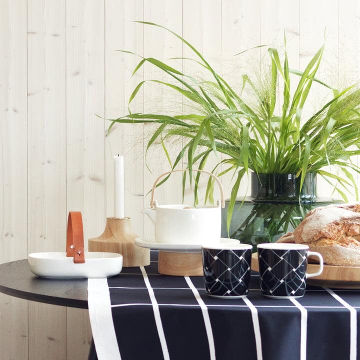 Stämpel Kerzenhalter, Basket Becher und Oiva Kanta Servierteller / Kuchenplatte von Marimekko