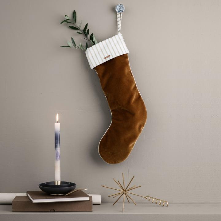 Weihnachtsstrumpf Samt von ferm Living