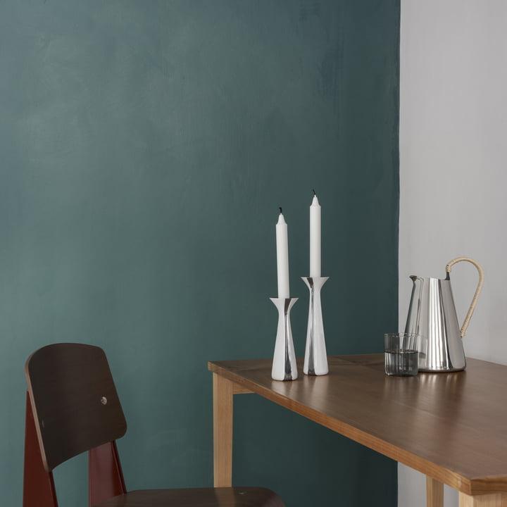 Unified Kerzenständer von Stelton auf dem Esstisch