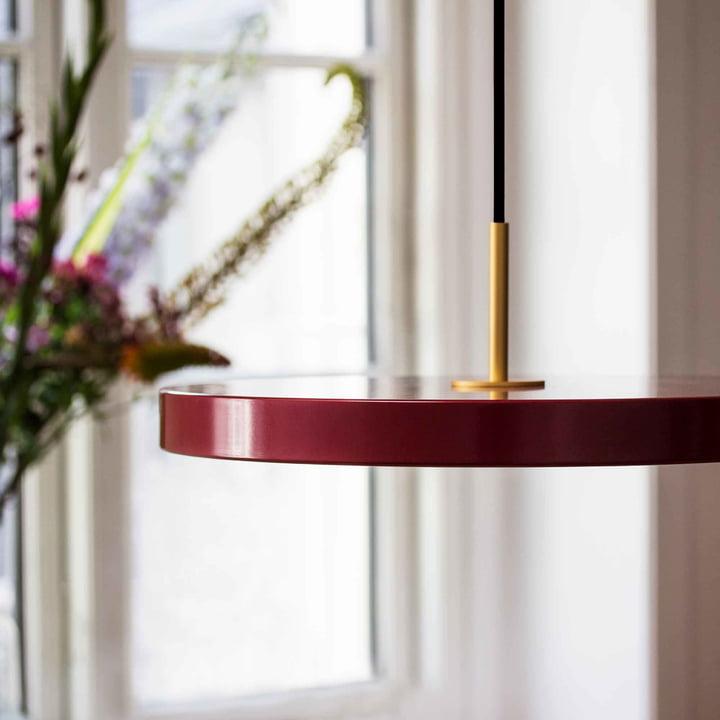 Asteria Pendelleuchte LED von Vita in Ruby