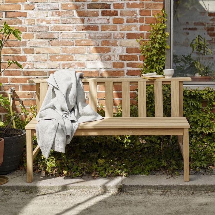 Die Skagerak - Plank Bank 144 cm, Teak im Garten
