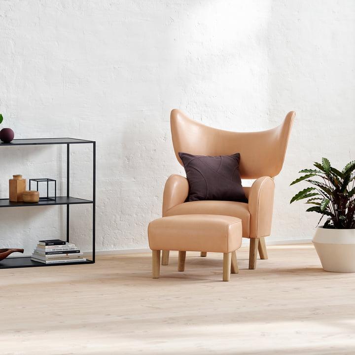 My Own Sessel mit Ottoman von by Lassen