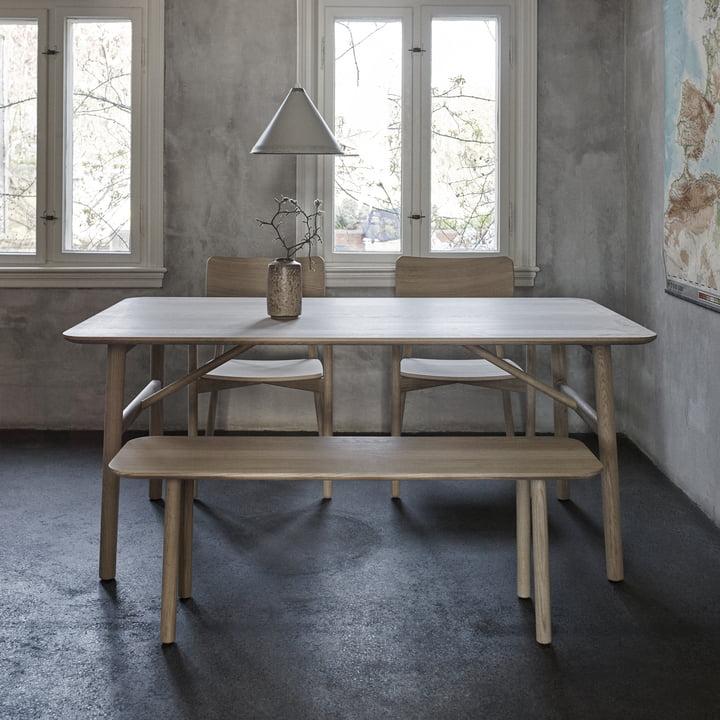Die Skagerak - Hven Bank mit zugehörigem Tisch und Stühlen aus der Hven Serie