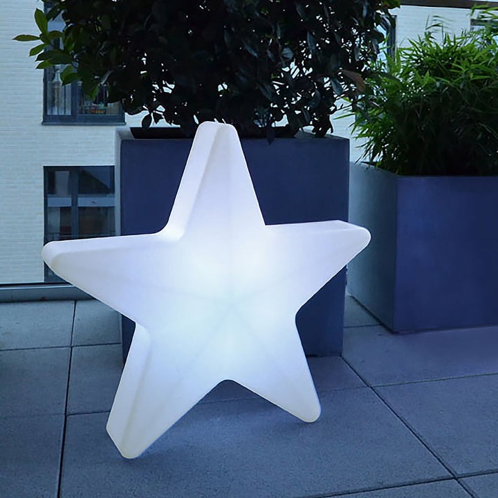 Moree - LED Weihnachtsstern Star 60, kabellos, weiß transluzent