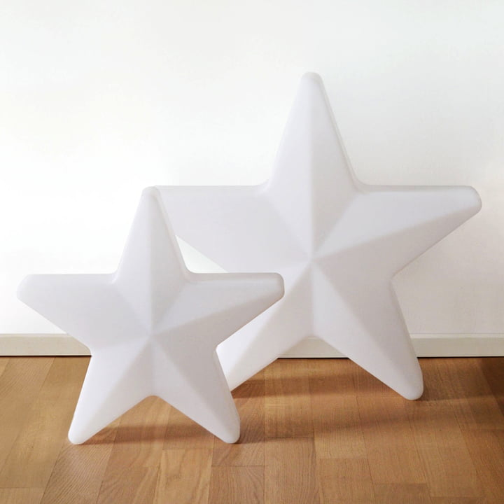 Moree - LED Weihnachtsstern Star, kabellos, weiß transluzent
