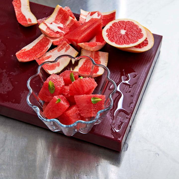 Rechteckiges Schneidebrett und Dessert Glasschalen von Hay