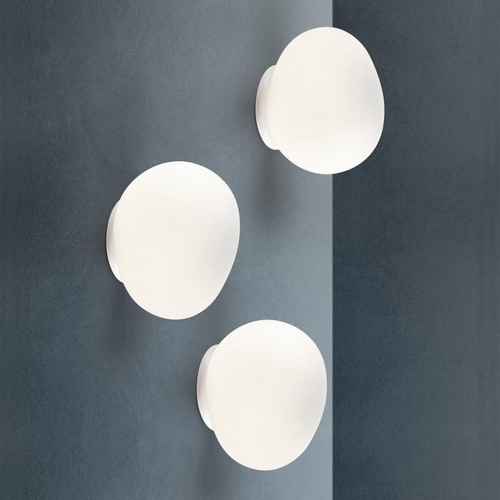 Die Foscarini - Gregg Wand- und Deckenleuchte LED in angeschaltetem Zustand