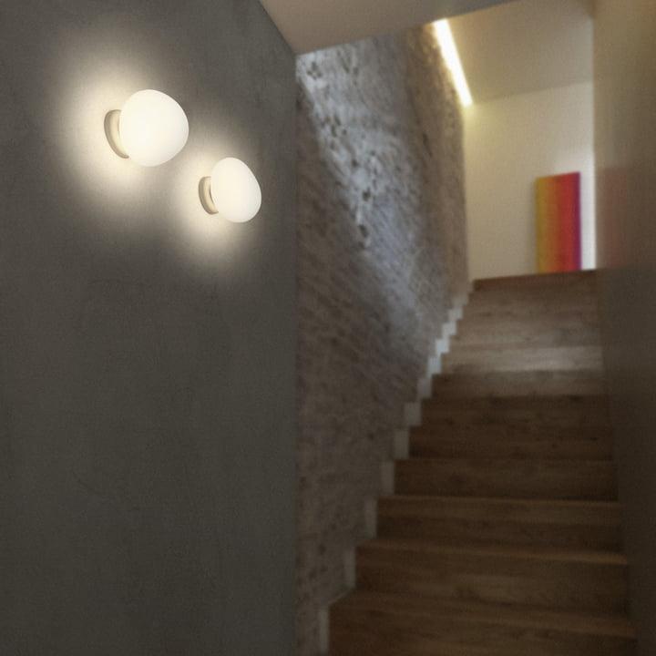 Die Foscarini - Gregg Wand- und Deckenleuchte LED als Treppenlicht