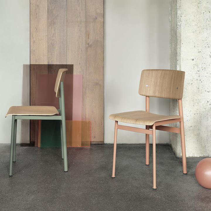 Loft Chair von Muuto in Dusty Rose und Dusty Green