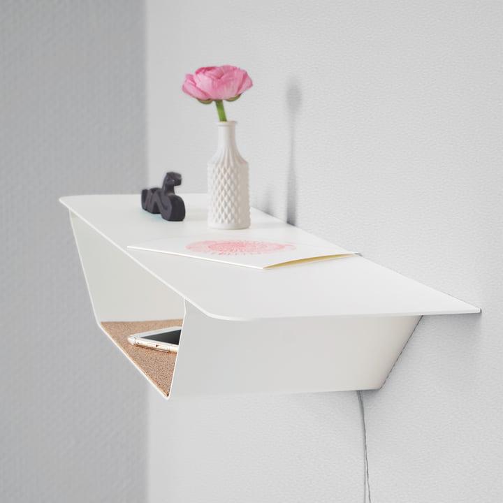 Die vonbox - Ablage RAY in weiß mit Dekoration
