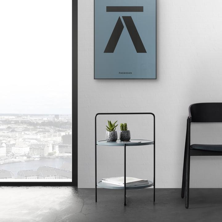 Der Andersen Furniture - Beistelltisch in schwarz / Petroleum