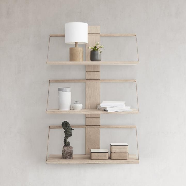 Das Andersen Furniture - Wood Wall Hängeregal, Eiche zu mehreren arrangiert