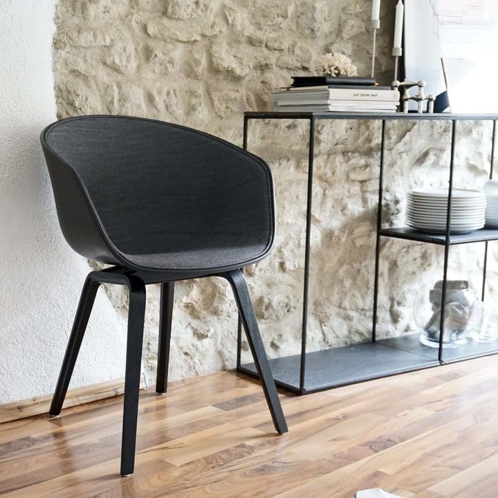 About A Chair von Hay mit Polsterung in black