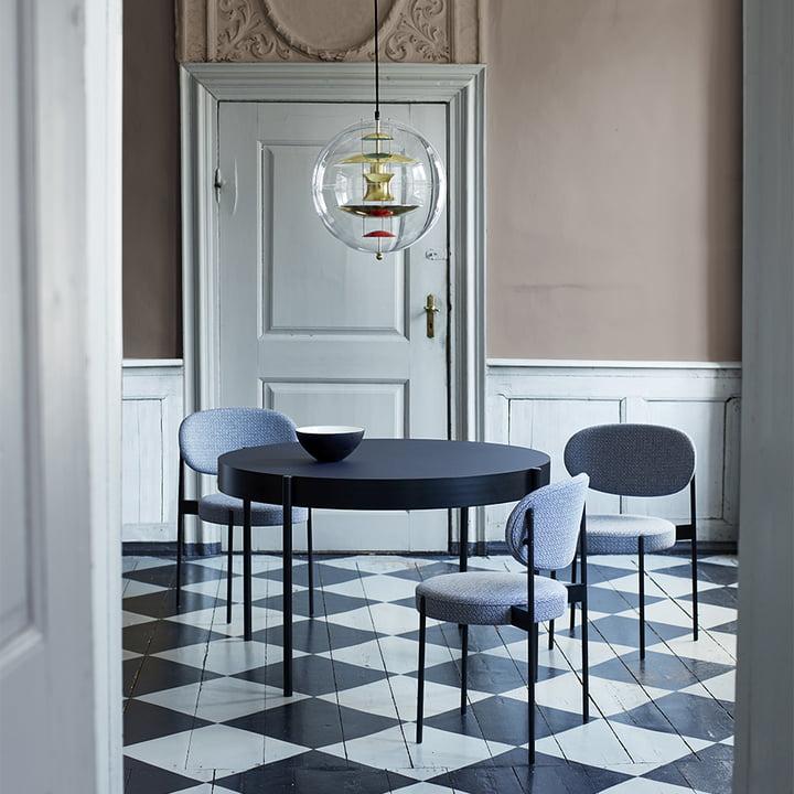 Verpan - Stuhl und Tisch 430 im Esszimmer