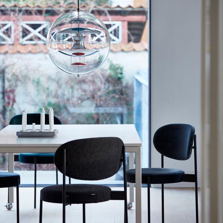 Verpan - Stuhl und Tisch 430 in Kombination