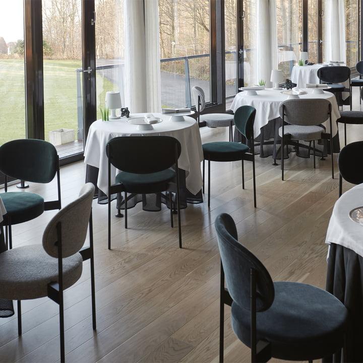 Verpan - Stuhl und Tisch 430 im Restaurant