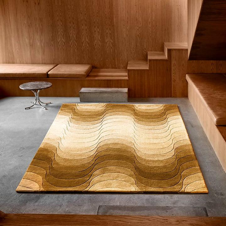 Der Verpan - Wave Teppich im Raum platziert